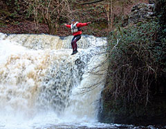 Adventure activity group canyoning in Wales