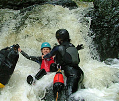 Gorge walking in Brecon Beacons